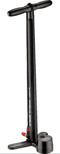 Lezyne Standluftpumpe Steel Digital Drive matt-schwarz