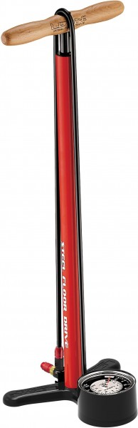 Lezyne Standpumpe Steel Floor Drive rot-glänzend