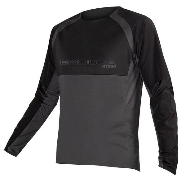 Endura MT500 Burner L/S Jersey Langarmtrikot schwarz