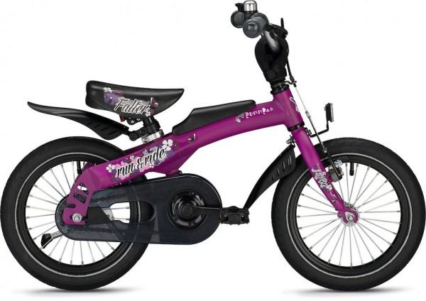 """Falter Kinder-/Jugendfahrrad Run & Ride 14"""" Violett Falter Aluminium"""