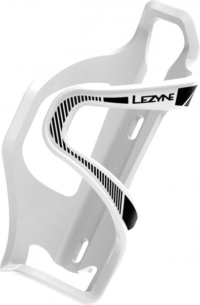 Lezyne Water bottle holder Flow Cage E white black / left