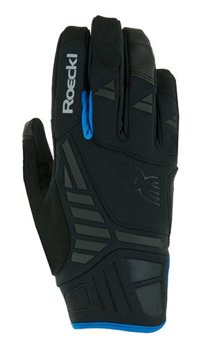 Roeckl Reintal Windproof Handschuhe schwarz/blau