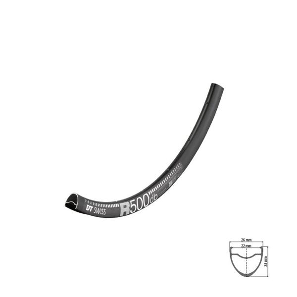 DT Swiss R 500 disc Felge 700c black