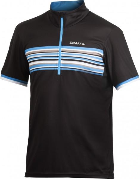 Craft Performance Bike Stripe Jersey schwarz/blau %