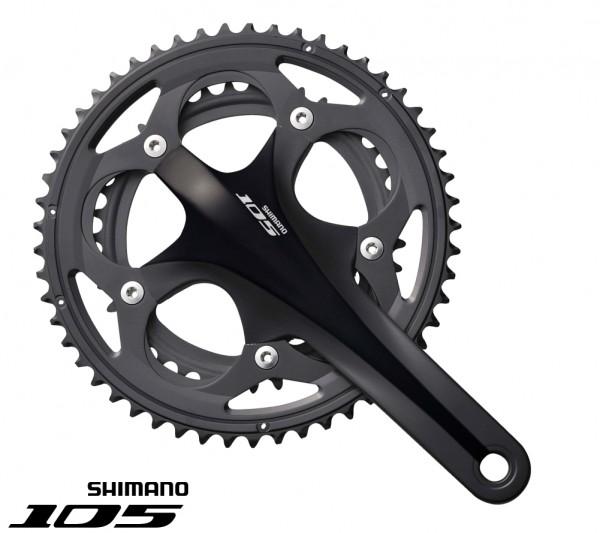 Shimano 105 Kurbelsatz FC-5750 Compact black 175mm