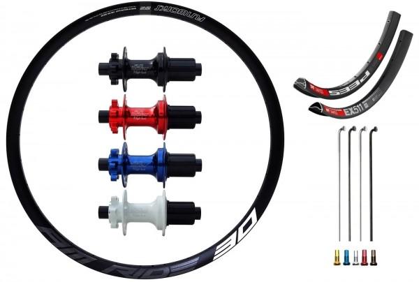 "Fun Works N-Light Boost Disc IS Custom Rear Wheel MTB 27,5"""