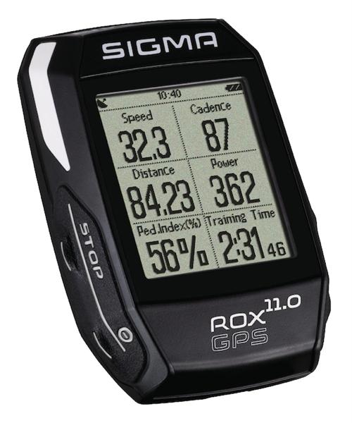 Sigma High-End Fahrradcomputer ROX 11.0 GPS Set schwarz (01008)