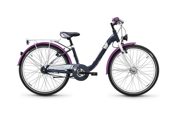 S´COOL chiX 24 Aluminium 7-Gang darkgrey/violett matt