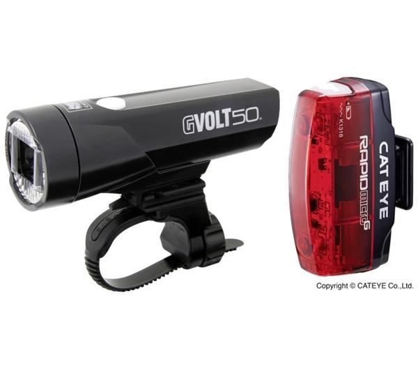 Cateye Beleuchtungsset GVolt 50 + Rapid Micro G mit StVZO-Zulassung
