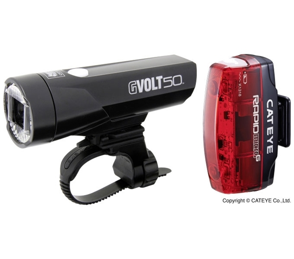 Cateye Lightset GVolt 70 + Rapid Micro G