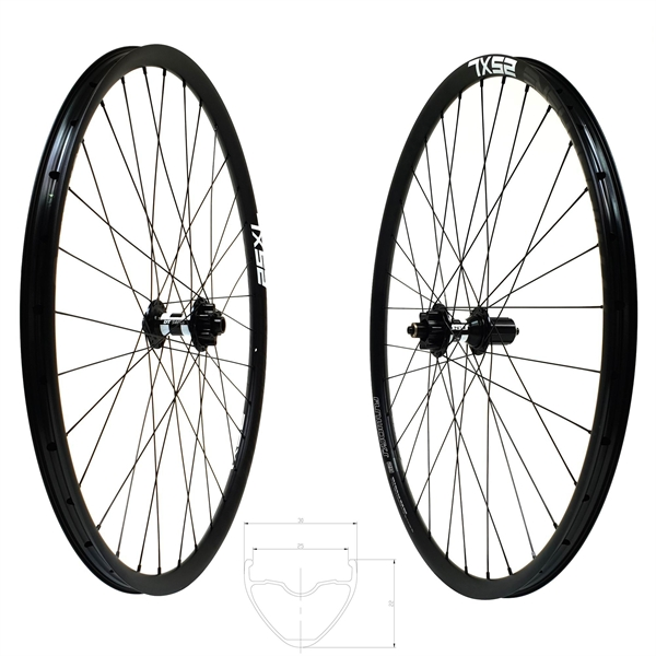 DT Swiss 350 Disc IS Atmosphere 25 XL Comp Race Wheelset 29er 1730g