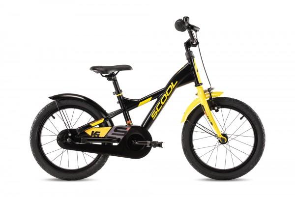 S´COOL XXlite 16 Stahl 1-Gang black/yellow matt