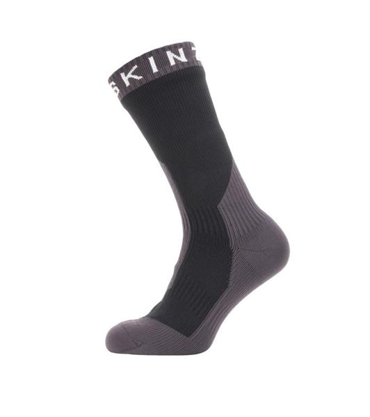 SealSkinz Socken Extrem Cold Weather Mid schwarz/grau