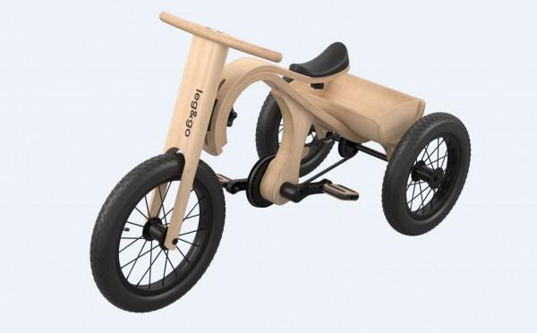 Leg&go Tricycle / Dreirad - Zusatzteil zu leg&go 3in1 Laufrad, 2 - 4 Jahre, 14''