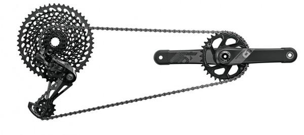 SRAM Komplettgruppe XO1 Eagle - DUB 1x12-fach - schwarz - 175mm / 32-50