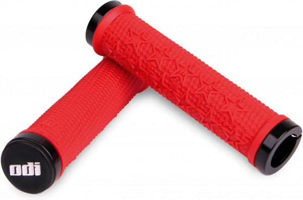 ODI BMX Grips The Machine Lock-On red / black