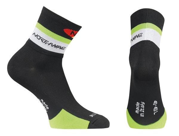 Northwave Logo Socks black/green fluo