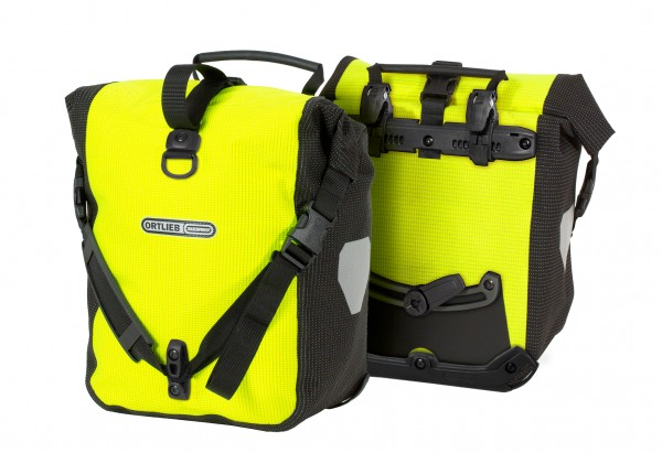 Ortlieb Sport-Roller High Visibility QL2.1 neon yellow-black reflective