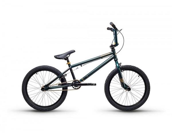 S´COOL XtriX 40 BMX 20'' Stahl 1-Gang darkgreen/gold matt