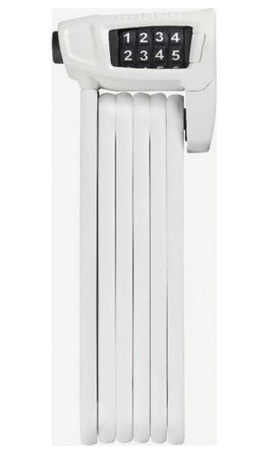 Abus Faltschloss Bordo Combo Lite 6150 white 85 cm