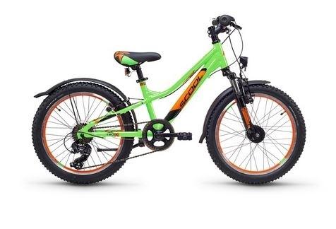 S´COOL troX urban 20 Aluminium 7-Gang neon green