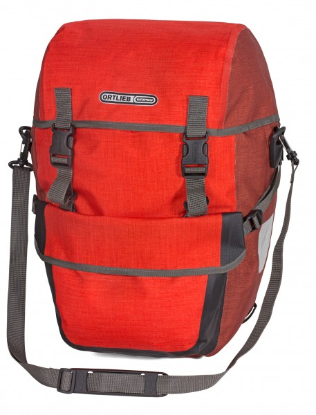 Ortlieb Bike-Packer Plus QL2.1 signal red-dark chili