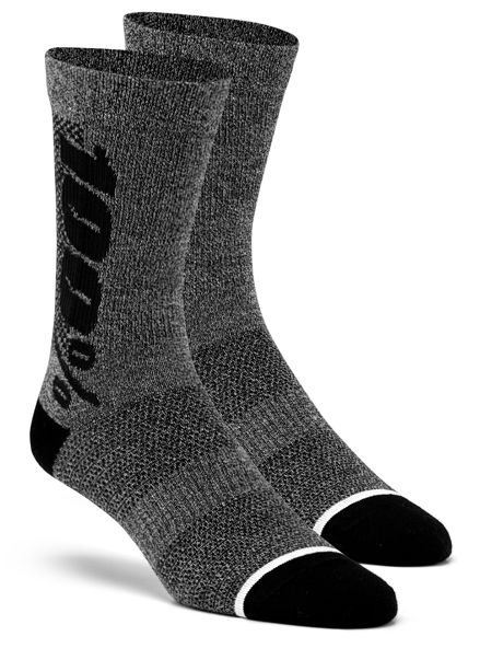 100% Rythym socks merino Charcoal/Heather