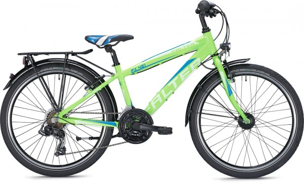 "Falter Child / Junior Bicycle FX 421 PRO Diamond 34 cm 24 ""Green Shiny"
