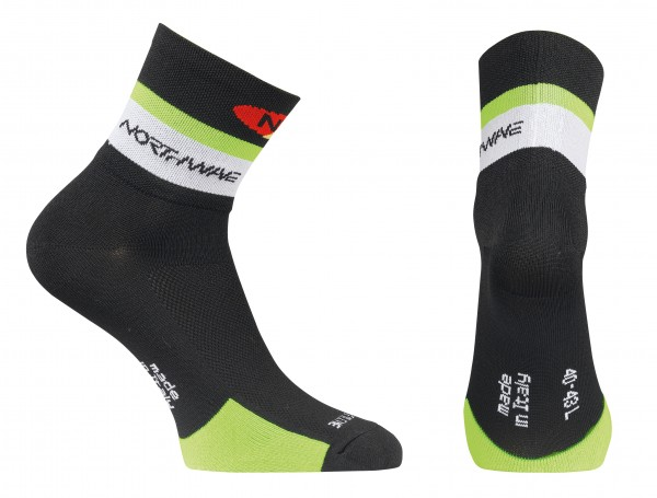 Northwave Logo Socks black/green fluo
