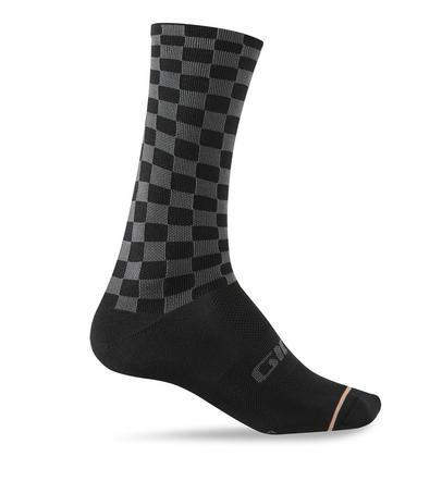 Giro Comp Racer High Rise Socken checkered peach