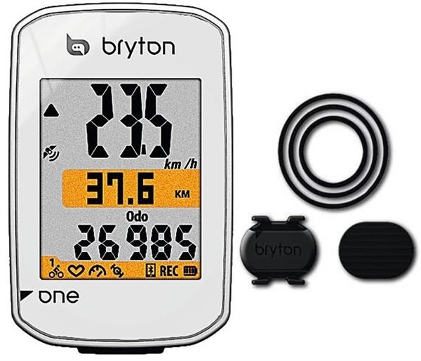 Bryton Rider one C GPS Fahrradcomputer Weiß mit Trittfrequenz