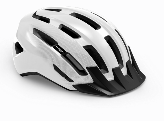 Met Downtown Mips Helm white/glossy
