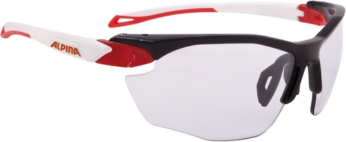 Alpina Brille Twist Five HR VL+ black-red-white Varioflex+black