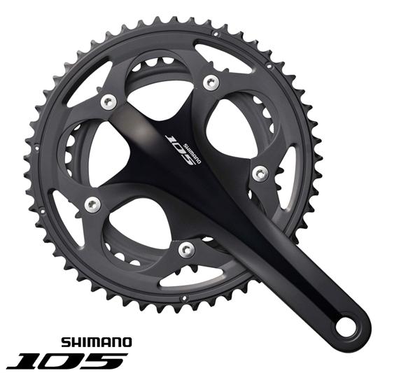 Shimano 105 Kurbelsatz FC-5750 Compact schwarz 175mm