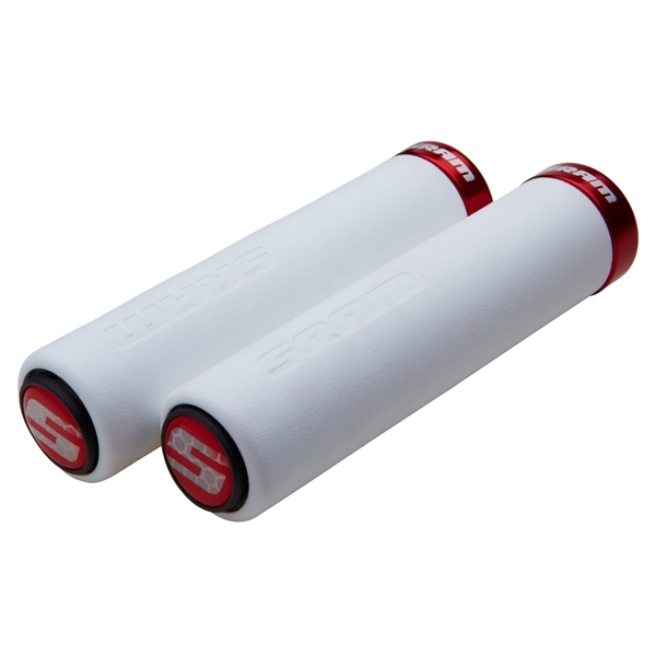 SRAM Lockring Foam Grips white / red