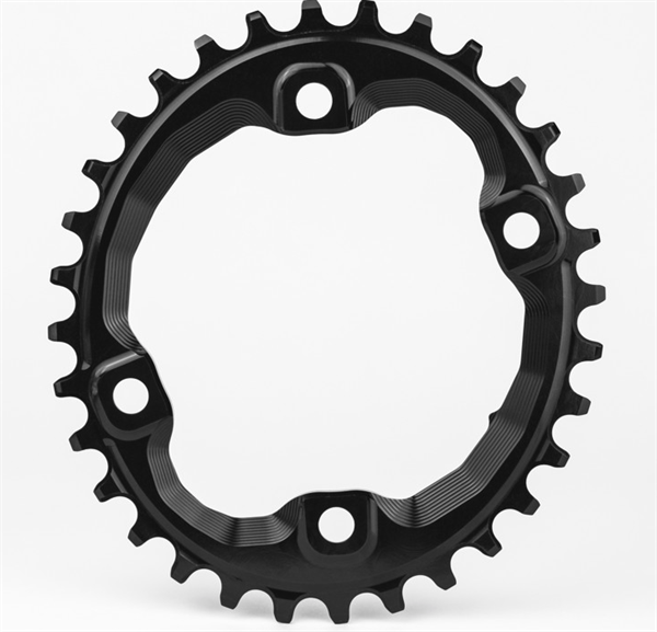 absoluteBlack Chainring Oval MTB 4-Bold 96BCD Black