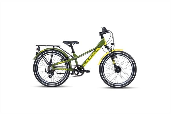 S´COOL troX 20 EVO Aluminium 7-Gang green/lemon matt