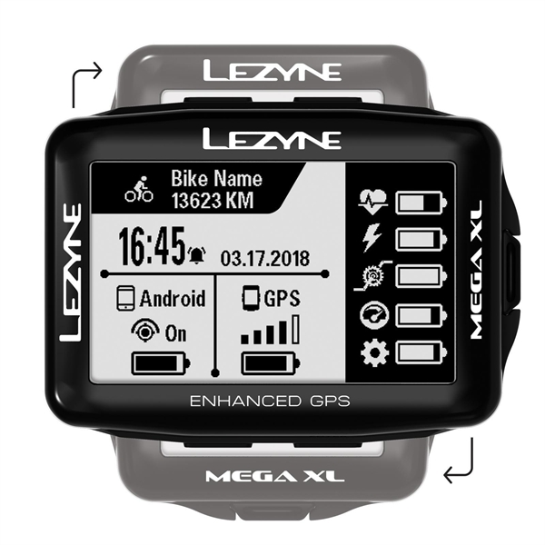 Lezyne bike computer mega xl GPS black