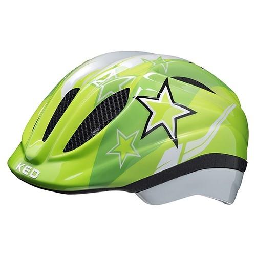 KED Meggy II Kids Helmet green stars