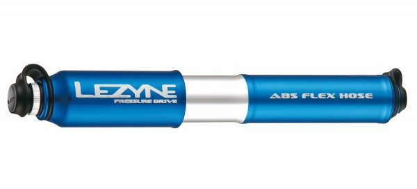 Lezyne Pressure Drive Minipumpe blau-glänzend