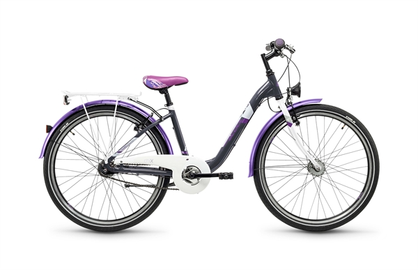 S´COOL chiX 26 steel 7-speed darkgrey/violet