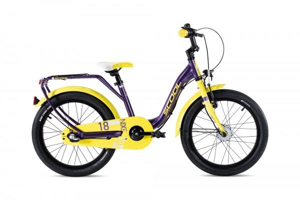S´COOL niXe street 18 Aluminium 3-Gang purple metallic/yellow