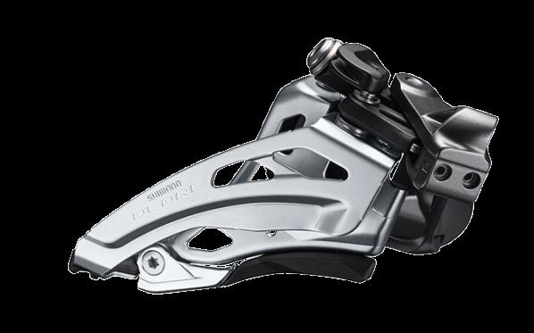 Shimano Deore Umwerfer FD-M6020 2x10 Side-Swing, Schelle tief