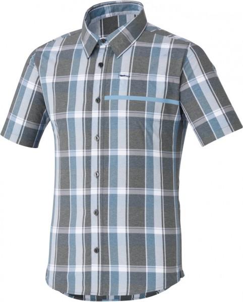 Shimano WS Transit SS Check Up Button Up Shirt shark %