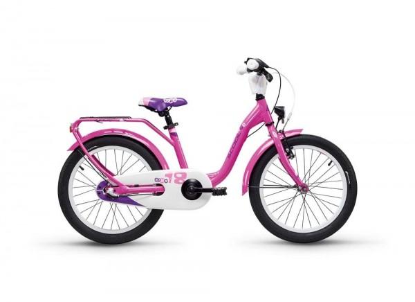 S´COOL niXe street 18 alloy 3-speed pink