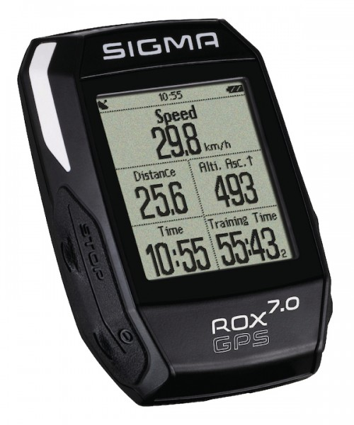 Sigma high-end bike computer ROX 7.0 GPS black