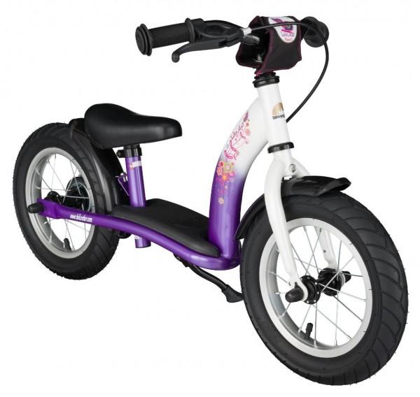 Bikestar Sicherheits-Kinderlaufrad Classic 12 Zoll candy lila & diamant weiß