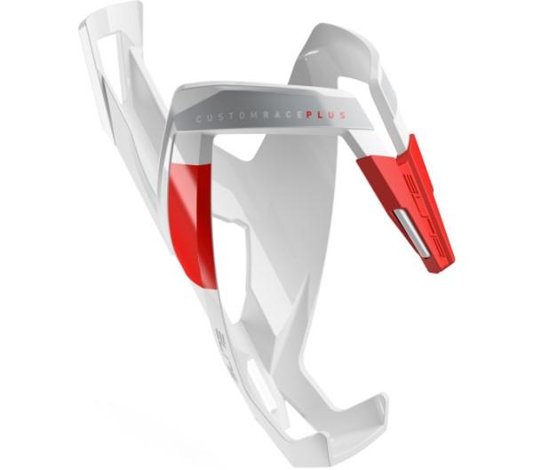 Elite Custom Race Plus bottle holder Fluo white/red shine