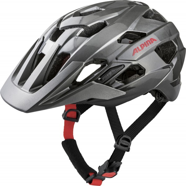 Alpina Anzana Helm darksilver-black-red