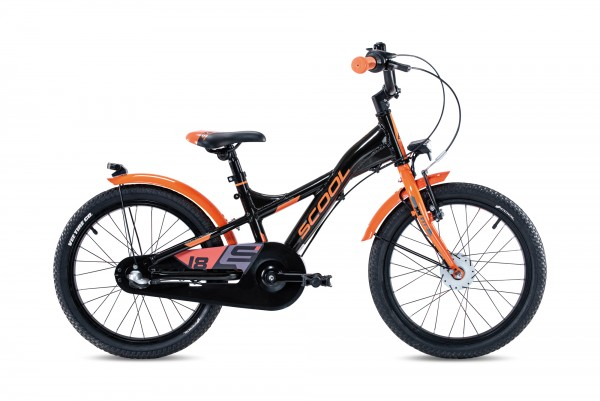 S´COOL XXlite street 18 Aluminium 3-Gang black/orange